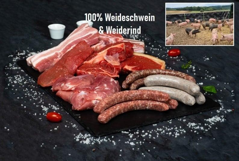 Mixed BBQ vom Weideschwein und Weiderind